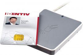 identiv uTrust 3700 F, DESFire, FeliCa, Calypso, NFC, USB, Gray