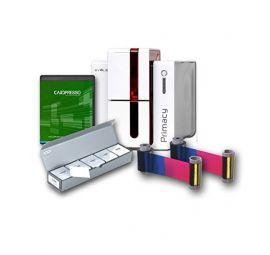 Evolis Primacy GO PACK, single sided, 12 dots/mm (300 dpi), USB, Ethernet, red-PM1S-GP2