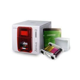 Evolis Zenius Classic GO PACK, single sided, 12 dots/mm (300 dpi), USB, red-ZN1U-GP1